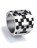 billiga -Herr crossover Bandring Statement Ring Ring - Titanstål Kors Vintage, Punk, Rock Silver Till Street Nattklubb