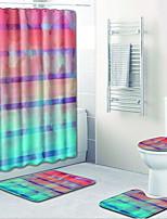 Недорогие -1 комплект Modern Коврики для ванны 100 г / м2 полиэфирный стреч-трикотаж Креатив нерегулярный / Прямоугольная Ванная комната Градиент цвета