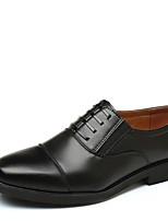 Недорогие -Муж. Комфортная обувь Полиуретан Осень Деловые Мокасины и Свитер Дышащий Черный