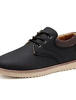 Недорогие -Муж. Комфортная обувь Искусственная кожа Зима Кеды Сохраняет тепло Черный / Темно-синий / Хаки