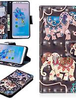 billiga -fodral Till Huawei Mate 10 lite / Huawei Mate 20 Pro Plånbok / Korthållare / med stativ Fodral Elefant Hårt PU läder för Huawei Nova 3i / Huawei P Smart Plus / Honor 7A