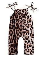 Недорогие -малыш Девочки Леопард Без рукавов 1 предмет