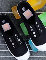 Недорогие -Жен. Комфортная обувь Полотно Лето Кеды На плоской подошве Белый / Черный / Серый