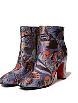 Недорогие -Жен. Комфортная обувь Синтетика Весна лето Ботинки На плоской подошве Цвет радуги
