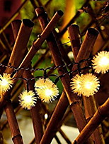 abordables -6m Guirlandes Lumineuses 30 LED Blanc Chaud Solaire / Décorative Alimentation Solaire 1 set
