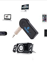 abordables -3.5mm jack bluetooth aux audio musique récepteur voiture kit haut-parleur sans fil casque adaptateur mains libres pour xiaomi iphone