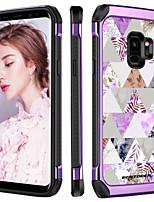 abordables -Coque Pour Samsung Galaxy S9 Plus Antichoc / Plaqué / Motif Coque Plantes / Formes Géométriques / Fleur Dur TPU / PC pour S9 Plus