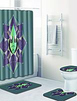 Недорогие -1 комплект Modern Коврики для ванны 100 г / м2 полиэфирный стреч-трикотаж Новинки нерегулярный / Прямоугольная Ванная комната Творчество
