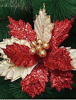 Недорогие -Праздничные украшения Рождественский декор Рождественские украшения Декоративная Золотой / Красный 1шт