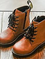 Недорогие -Мальчики / Девочки Обувь Полиуретан Зима / Наступила зима Армейские ботинки Ботинки Для прогулок для Дети / Для подростков Черный / Темно-коричневый / Сапоги до середины икры