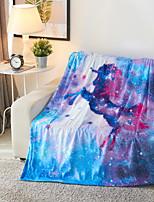 baratos -Super Suave, Estampado Galáxia / 3D impressão Poliéster / Poliamida cobertores