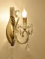 baratos -Cristal Moderno / Contemporâneo Quarto Metal Luz de parede 110-120V / 220-240V