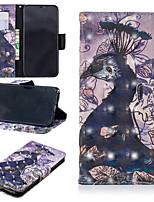 Недорогие -Кейс для Назначение Apple iPhone XS / iPhone XS Max Кошелек / Бумажник для карт / со стендом Чехол Животное Твердый Кожа PU для iPhone XS / iPhone XR / iPhone XS Max