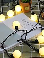 Недорогие -5 метров Гирлянды 20 светодиоды Тёплый белый Декоративная 220-240 V 1 комплект