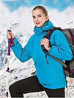 baratos -Mulheres Jacket Hoodie Jaquetas 3-em-1 ao ar livre Outono Primavera Inverno A Prova de Vento Á Prova-de-Chuva Respirabilidade Vestível Náilon Chinês Jaqueta de Inverno Cursor Único Esqui Equitação