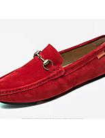 Недорогие -Муж. Комфортная обувь Кожа Весна Мокасины и Свитер Черный / Серый / Красный
