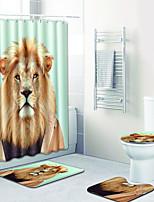 Недорогие -1 комплект На каждый день Коврики для ванны 100 г / м2 полиэфирный стреч-трикотаж Животное Круглый / Прямоугольная Ванная комната обожаемый