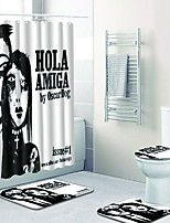 billiga -1set Moderna Duschmattor 100g / m2 Polyester Stretch Geometrisk Oregelbunden Badrum Ny Design