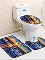 Недорогие -3 предмета Modern Коврики для ванны 100 г / м2 полиэфирный стреч-трикотаж Креатив Прямоугольная Ванная комната Cool