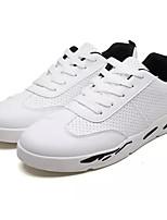 Недорогие -Муж. Комфортная обувь Полиуретан Лето Кеды Белый / Черно-белый / Розовый и белый