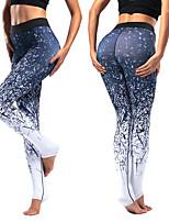 abordables -Femme Sur Le Talon Pantalon de yoga - Noir, Bleu Des sports Imprimé Leggings / Bas Danse, Gymnastique Tenues de Sport Respirable, Séchage rapide, Doux Haute élasticité Standard / Hiver
