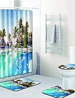 Недорогие -1 комплект Традиционный Коврики для ванны 100 г / м2 полиэфирный стреч-трикотаж Новинки Прямоугольная Ванная комната Милый