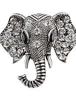 Недорогие -Жен. Классический Броши - Слон Мода, Элегантный стиль Брошь Золотой / Серебряный Назначение Свидание / Для улицы