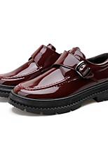 Недорогие -Муж. Кожаные ботинки Кожа Наступила зима На каждый день Мокасины и Свитер Для прогулок Высота возрастающей Черный / Вино / Для вечеринки / ужина