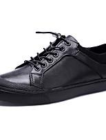 Недорогие -Муж. Кожаные ботинки Кожа Осень Спортивные / На каждый день Кеды Водостойкий Черный