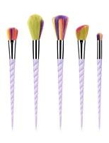 billiga -5 delar Makeupborstar Professionell Rougeborste / Ögonskuggsborste / Läppensel Nylon fiber Fullständig Täckning