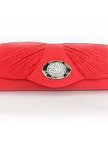 Недорогие -Жен. Мешки Шелк Вечерняя сумочка Кристаллы Белый / Красный