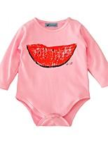 abordables -bébé Fille Imprimé Manches Longues Une-Pièce