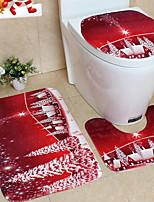 Недорогие -Праздничные украшения Рождественский декор Рождество Сборное / Для вечеринок Красный 3шт
