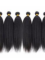 abordables -6 offres groupées Cheveux Brésiliens Droit crépu Cheveux humains Tissages de cheveux humains / Bundle cheveux / One Pack Solution 8-28 pouce Naturel Couleur naturelle Tissages de cheveux humains