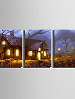 abordables -Imprimé Impression sur Toile - Paysage / Halloween Moderne
