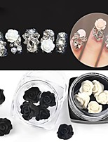 billiga -1 pcs Dekaler Bästa kvalitet Flower Shape nagel konst manikyr Pedikyr Dagligen Romantisk
