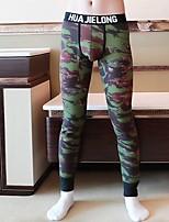 Недорогие -Муж. Нормальная Полиэстер Унисекс Кальсоны Геометрический принт / Контрастных цветов Жаккард Заниженная