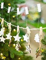 Недорогие -Рождественские украшения Праздник деревянный Рождественская елка деревянный Рождественские украшения