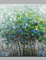 billiga -Hang målad oljemålning HANDMÅLAD - Abstrakt / Landskap Samtida / Moderna Duk