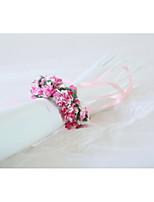 Недорогие -Свадебные цветы Букетик на запястье Свадьба / Свадебные прием Тиснённая бумага / Кружево / Шелк 0-10 cm