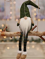 Недорогие -Праздничные украшения Рождественский декор Рождественский декор Декоративная / Милый Серый / Красный / Зеленый 1шт