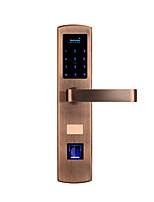 abordables -Factory OEM Acier inoxydable Intelligent Lock Smart Home Security iOS / Android Système RFID / Mot de passe anti peeping / Paramètres de code de sécurité aléatoire Maison / Chambre / Appartement
