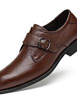 abordables -Homme Chaussures Formal Cuir Nappa Automne Classique / British Mocassins et Chaussons+D6148 Ne glisse pas Noir / Marron