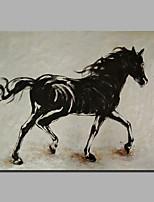 abordables -Peinture à l'huile Hang-peint Peint à la main - Abstrait Classique / Moderne Toile