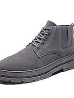 Недорогие -Муж. Армейские ботинки Замша Осень На каждый день Ботинки Сохраняет тепло Сапоги до середины икры Черный / Серый / Черно-белый