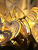 abordables -2,5 m Guirlandes Lumineuses 20 LED Blanc Chaud Décorative Piles AA alimentées 1 set