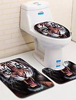 Недорогие -3 предмета Modern Коврики для ванной 100 г / м2 полиэфирный стреч-трикотаж Креатив / Животное Прямоугольная Ванная комната Легко очистить