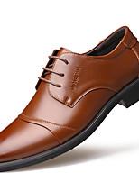 baratos -Homens Sapatos formais Pele Outono Casual Oxfords Não escorregar Preto / Marron