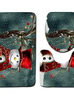 Недорогие -1 комплект Мультяшная тематика Коврики для ванны 100 г / м2 полиэфирный стреч-трикотаж Креатив Прямоугольная Ванная комната Очаровательный