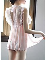 abordables -Femme Sexy Costumes Vêtement de nuit Dentelle, Couleur Pleine / Points Polka / Foulard